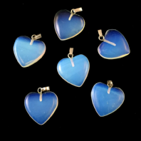 5 Opalite Heart Pendant 20mm